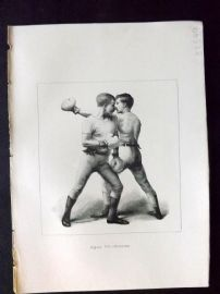 Badminton Library 1893 Antique Boxing Print. Slipping